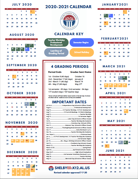 Shelby County Schools Calendar 2022.Shelby County Schools Sets 2020 21 Plan Delays Start Shelby County Reporter Shelby County Reporter